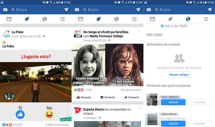 Facebook também muda sua interface: uma nova seção aparece 2