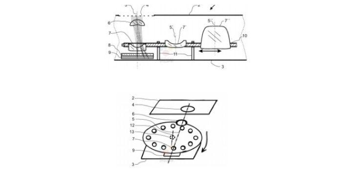 patente de sensores nokia e zeiss