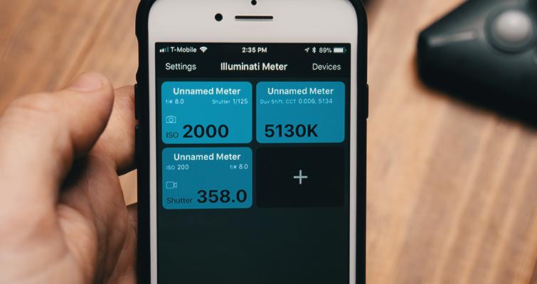 Comentário: The Illuminati - Um medidor de luz mãos-livres - App