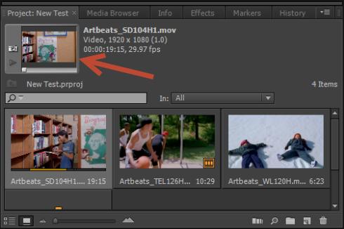 Visualização rápida: o espaço de trabalho do Premiere Pro CS6 4