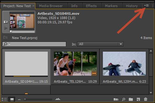 Visualização rápida: o espaço de trabalho do Premiere Pro CS6 5