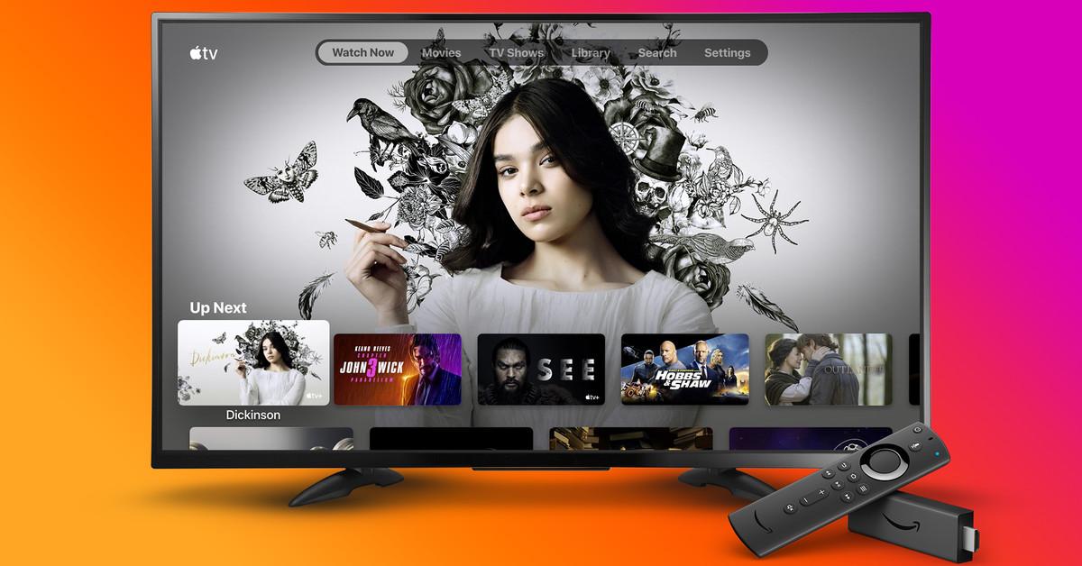 Apple O aplicativo de TV é iniciado em Amazon Fire TV dispositivos