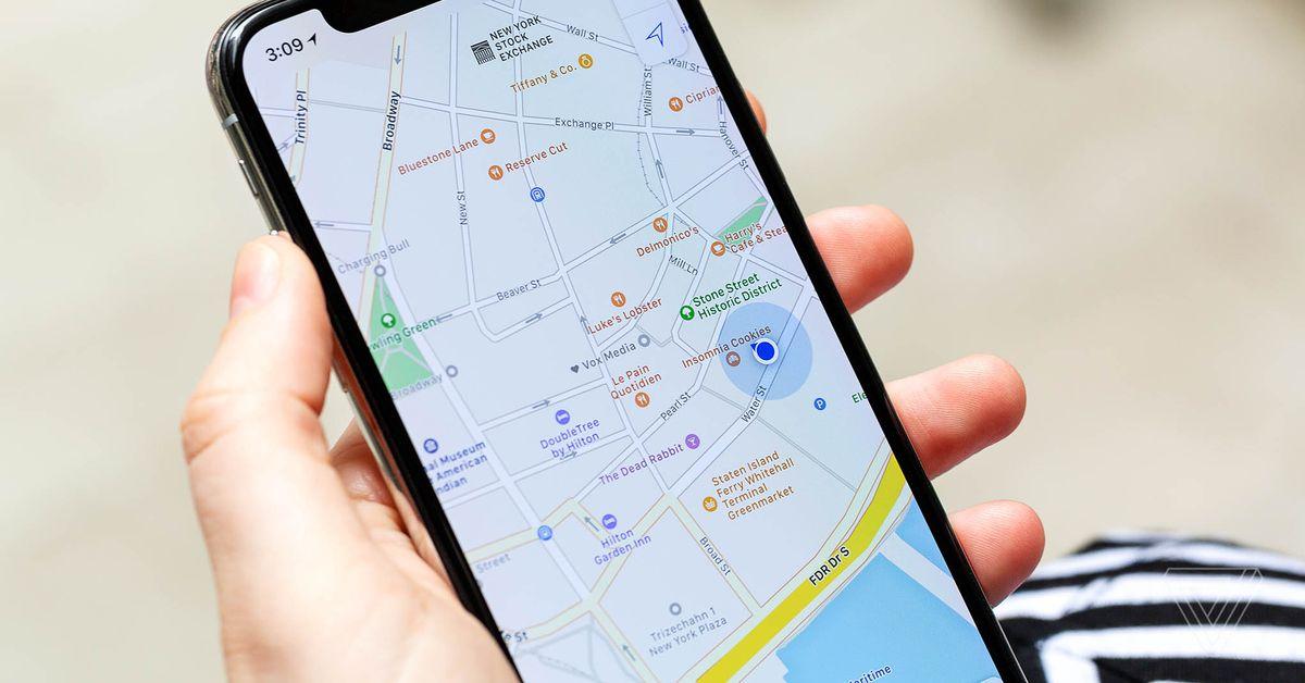 Apple Os mapas agora mostram os locais de teste COVID-19