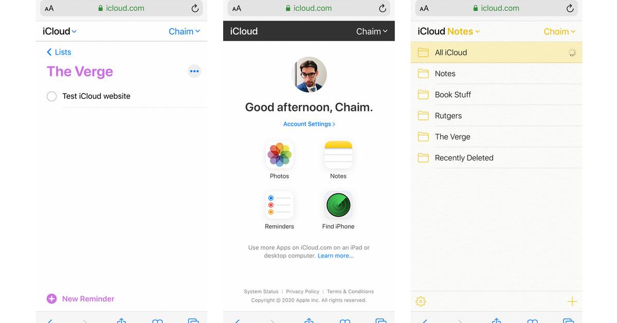 Apple atualiza o iCloud.com com um site móvel adequado para iOS e Android