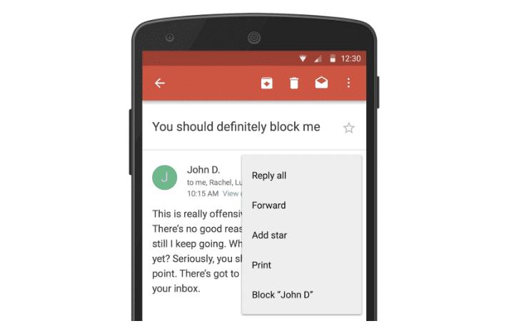 Bloquear contatos e cancelar a inscrição é novo no Gmail [APK]