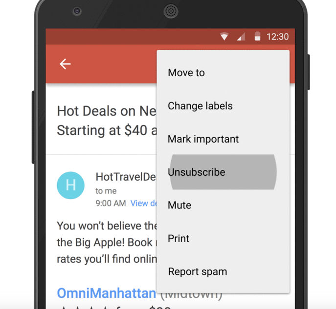 cancelar assinaturas no gmail