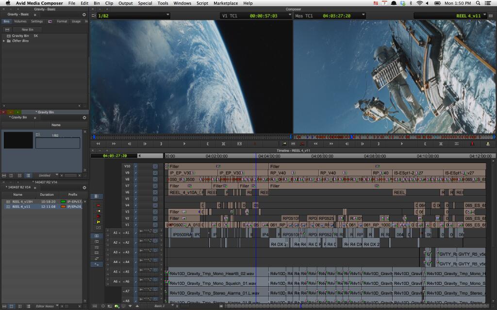 Cronograma de edição de vídeo da Gravity, Kick Ass 2, Programas de TV em rede e muito mais