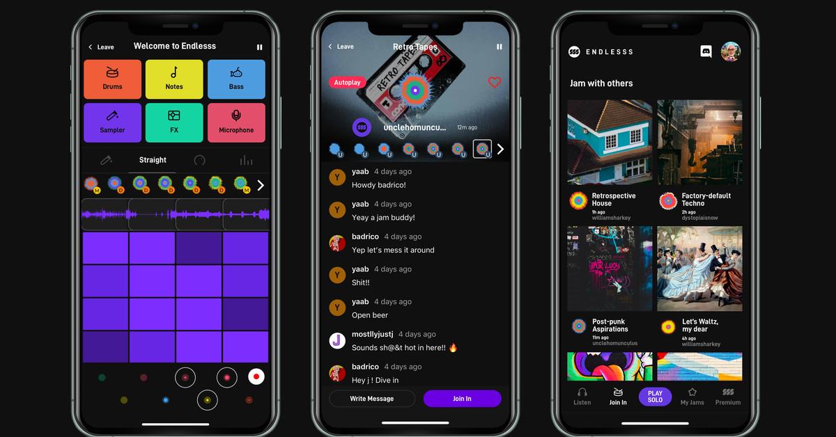 Este aplicativo permite que os músicos remotamente tocem loops em tempo real
