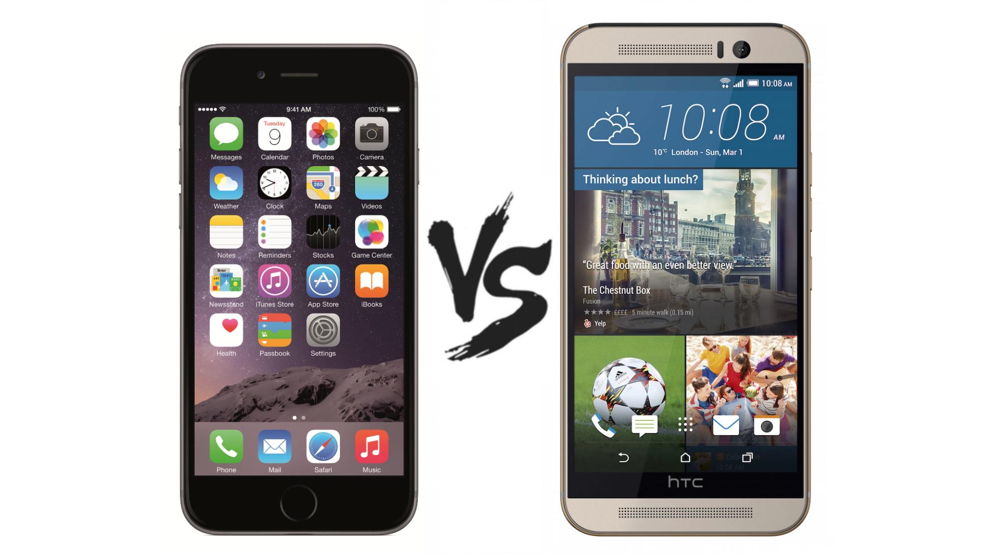 HTC One M9 vs iPhone 6 – qual é melhor?
