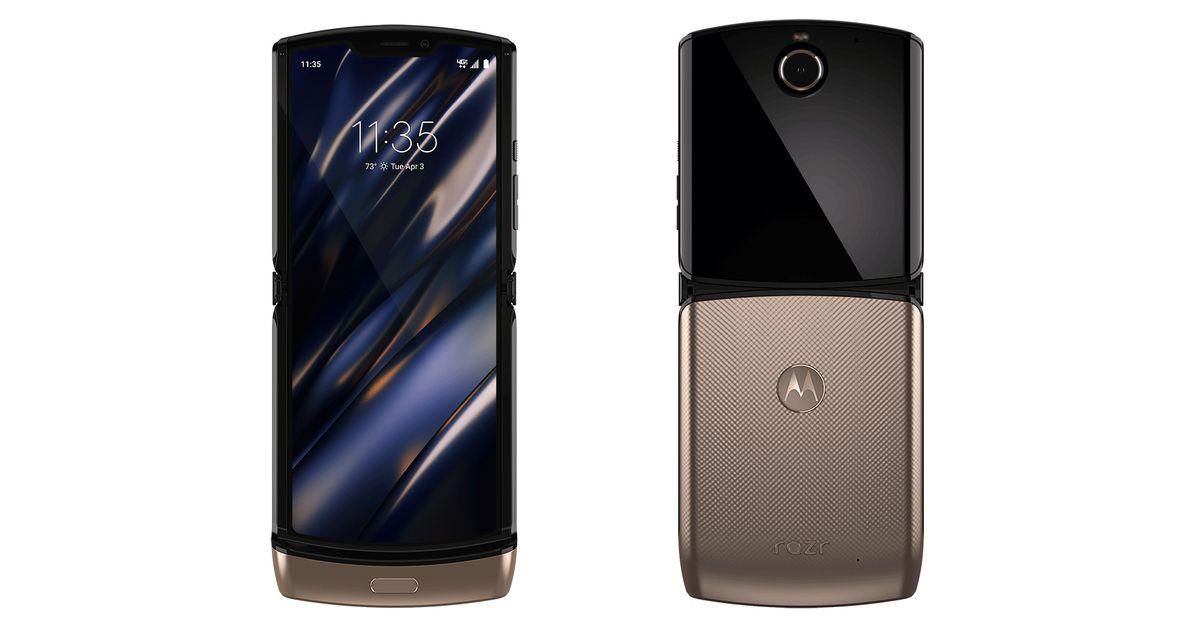 O Razr dobrável da Motorola parece ainda melhor em ouro
