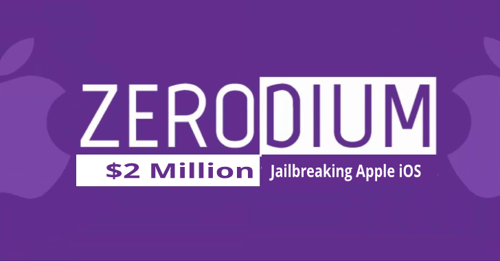 O zeródio está oferecendo $2 Milhões Para Remoção Jail Remotamente Apple iOS