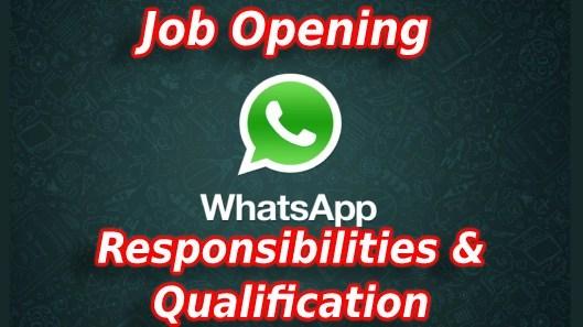 WhatsApp está contratando!  Encontre o perfil do cargo, responsabilidades e outros detalhes