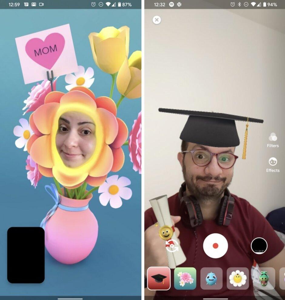 A versão 87 do Duo inclui novos filtros, incluindo um para a graduação - a atualização para o Google Duo permite que os usuários possam ser acessados por e-mail