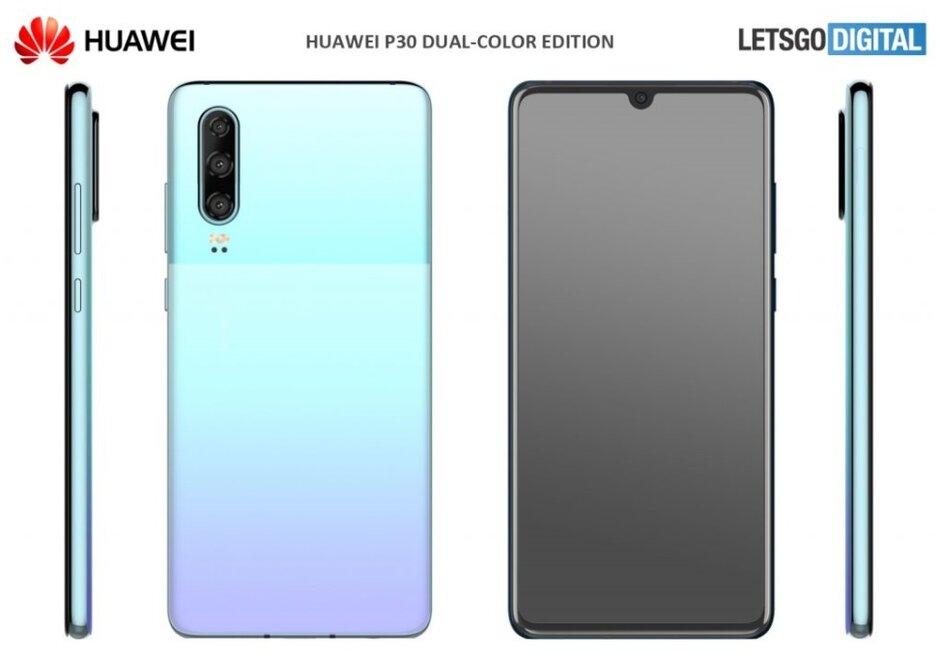 Uma das novas cores que a Huawei poderia anunciar na próxima semana para o Huawei P30 - o Huawei P30 poderia obter duas novas opções de cores na próxima semana