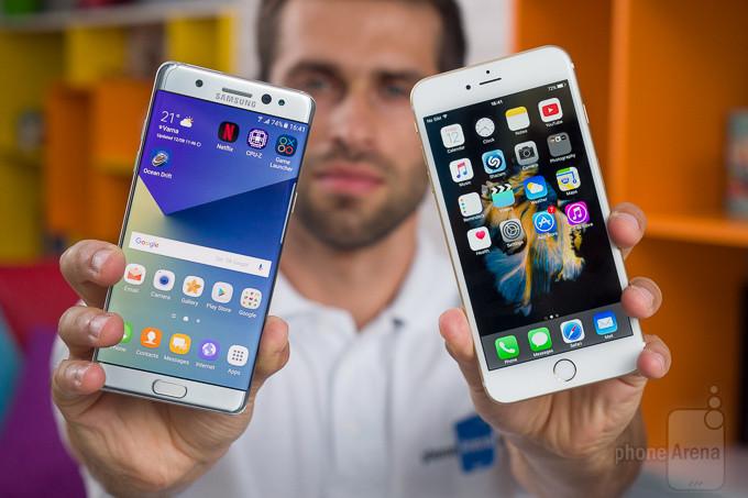 Samsung Galaxy Nota 7 vs Apple iPhone 6s Plus