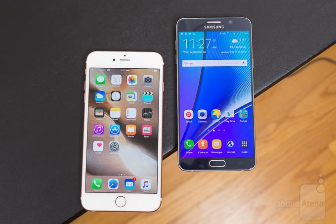 Apple  iPhone 6s Plus vs Samsung Galaxy Nota 5