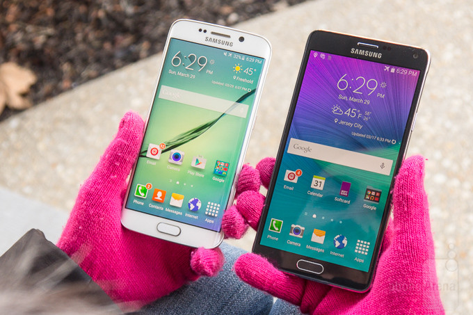 Samsung Galaxy Samsung S6 edge vs Galaxy Nota 4