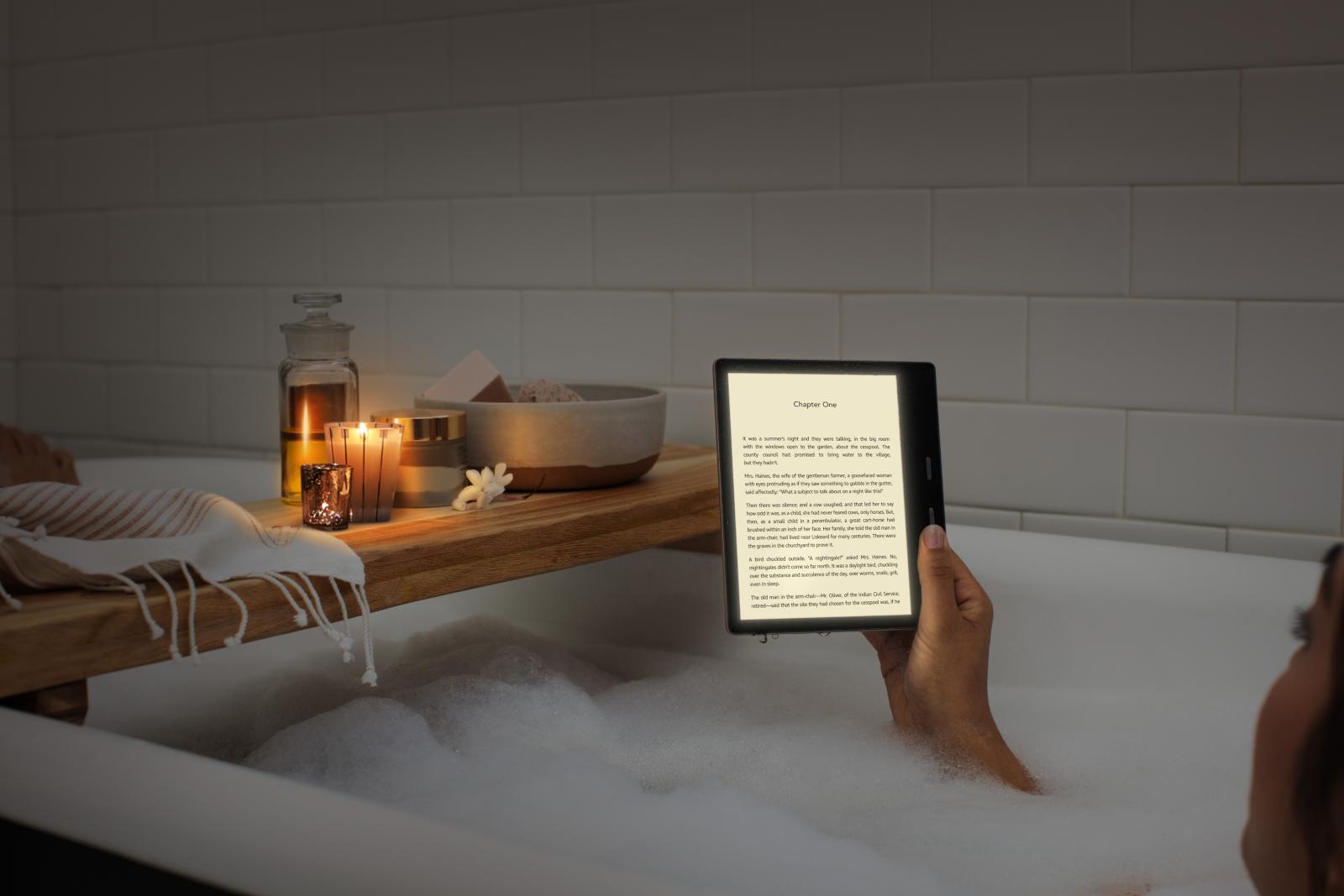 Amazon lança novo Kindle Leitor eletrônico Oasis com luz frontal ajustável em cores 1