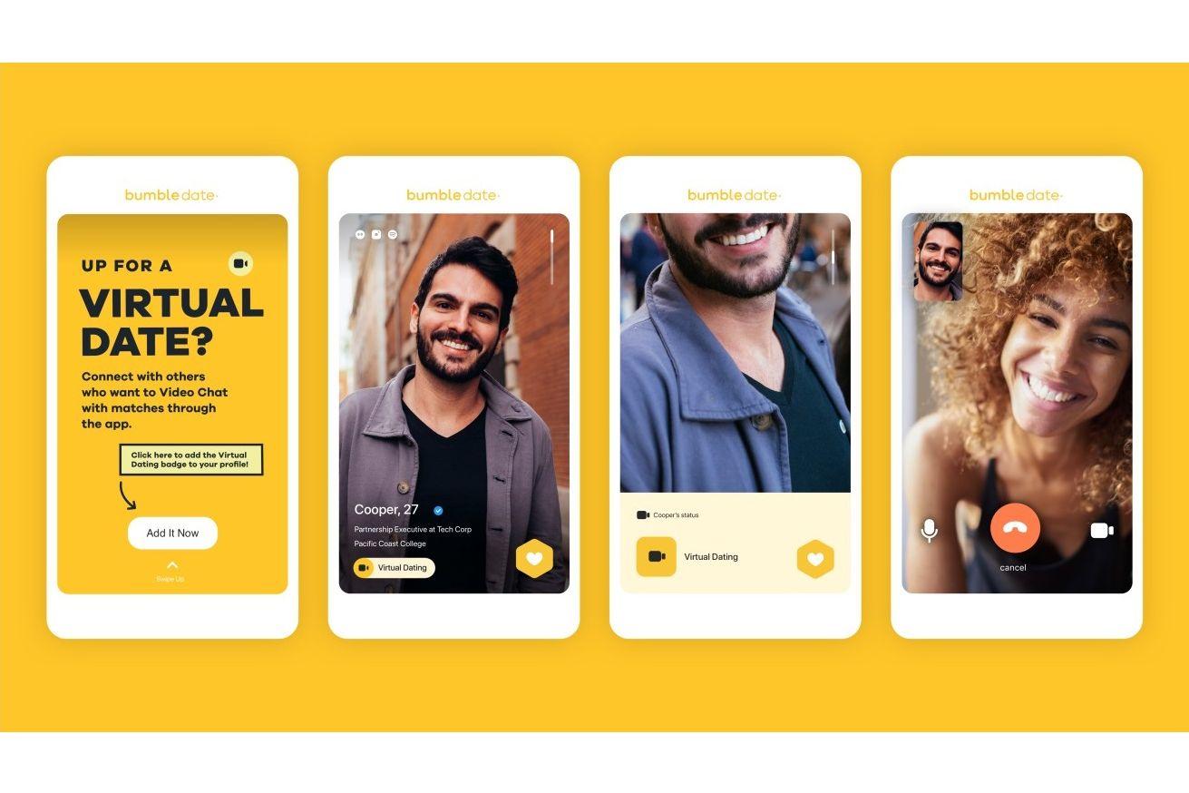 Aplicativo de namoro Bumble oferece datas virtuais para abelhas presas em casa 1