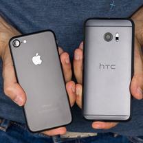 Apple Iphone 7 HTC 10 vs 1