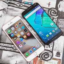 Apple Motorola Moto X Pure vs iPhone 6s Plus