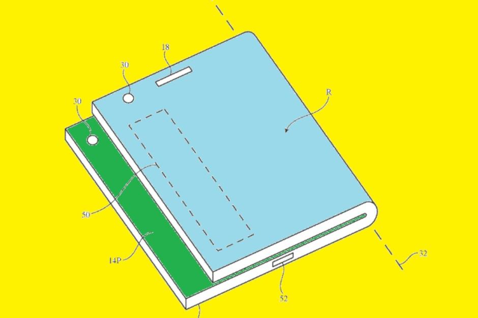Apple disse trabalhar no iPhone de tela dupla; aplicativo de patente explica como você pode ver as notificações 1