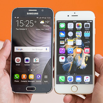 Apple iPhone 6s vs Samsung Galaxy S6 1