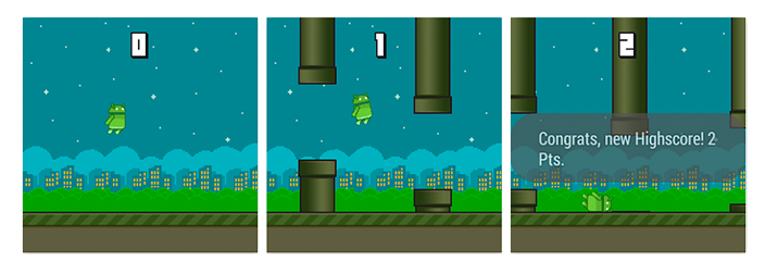 Flappy Bird Android Wear Flopsy Droid
