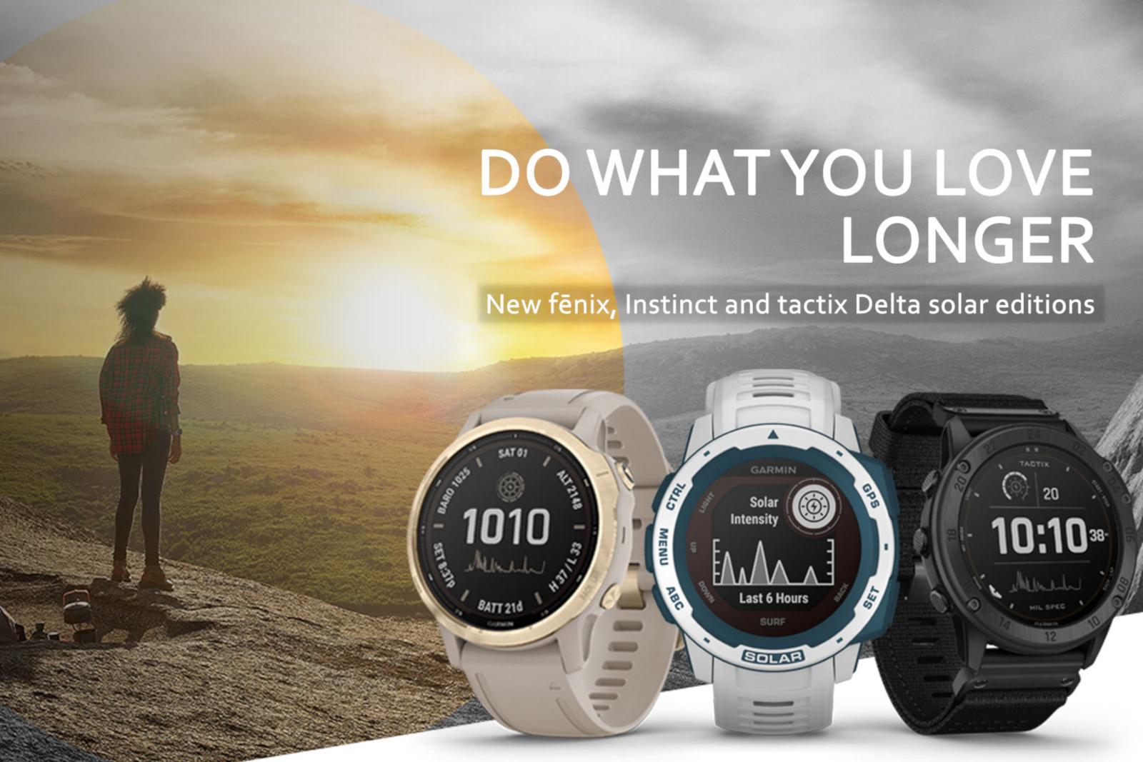Garmin lança novos smartwatches antigos movidos a energia solar 1