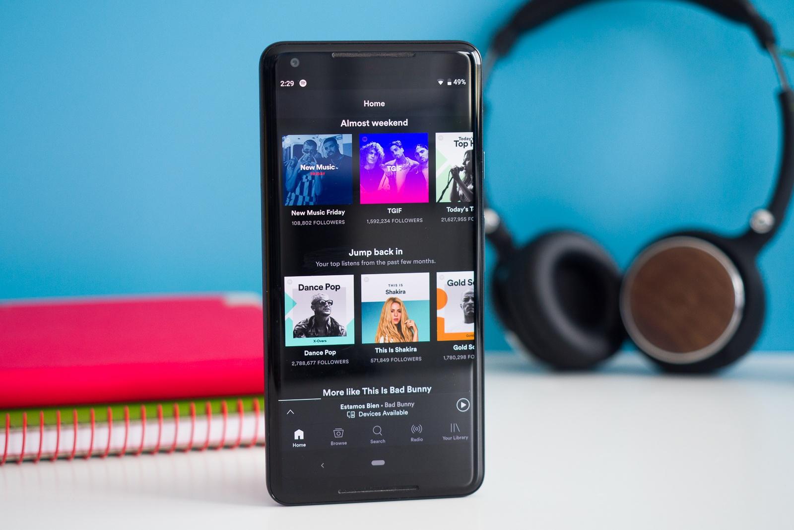O Spotify finalmente adiciona o recurso solicitado há muito tempo ao seu aplicativo Android com o mínimo de alarde 1