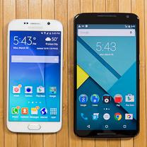 Samsung Galaxy Google Nexus vs S6 6 1