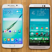Samsung Galaxy HTC One M9 vs S6 edge