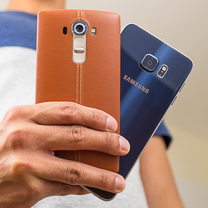 Samsung Galaxy LG G4 vs S6 edge +