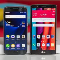Samsung Galaxy LG G4 vs S7