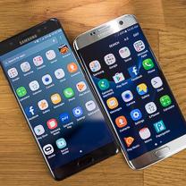 Samsung Galaxy Nota 7 vs Samsung Galaxy S7 Edge