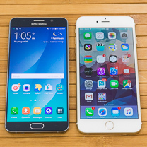 Samsung Galaxy Note5 vs Apple Iphone 6 Mais