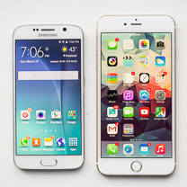 Samsung Galaxy S6 vs Apple Iphone 6 Mais 1