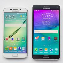 Samsung Galaxy Samsung S6 edge vs Galaxy Nota 4 1