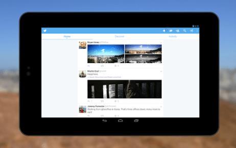 Twitter para Android implementando o compartilhamento de tweets por meio de mensagens diretas